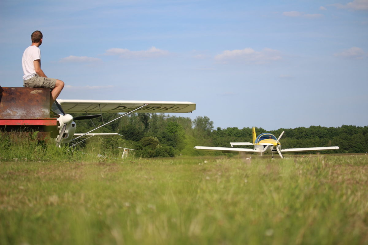 Mitfliegen und Selberfliegen in Hengsen-Opherdicke